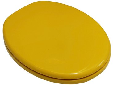 ADOB WC-Sitz »Capri«, mit Messing verchromten Scharnieren, gelb, gelb