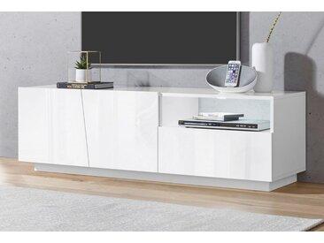 Tecnos Lowboard »Vega«, Breite 150 cm, weiß, Weiß Hochglanz