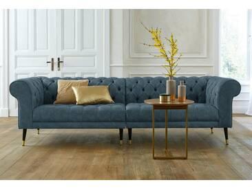 Guido Maria Kretschmer Home&Living GMK Home & Living Chesterfield Big-Sofa »Tinnum«, grün, türkis