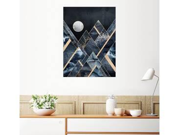 Posterlounge Wandbild - Elisabeth Fredriksson »Stürmische Berge«, bunt, Leinwandbild, 30 x 40 cm, bunt