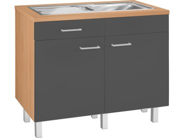 OPTIFIT Spülenschrank »Tapa« Modul, Breite 100 cm, grau, anthrazit-buche