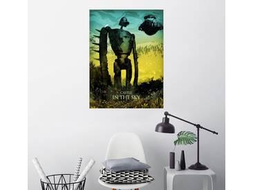 Posterlounge Wandbild - Albert Cagnef »Castle in the Sky«, bunt, Holzbild, 120 x 160 cm, bunt