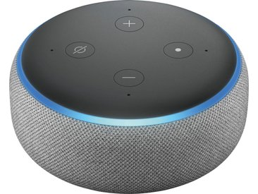 Echo Alexa Dot (3. Generation) Mono Smart Speaker (WLAN (WiFi), Bluetooth), grau, hellgrau