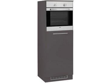 wiho Küchen WIHO-Küchen Backofen-/Kühlumbauschrank »Flexi2«, grau, anthrazit/anthrazit
