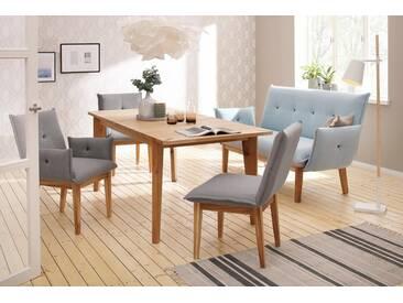 Home affaire Tisch »Libra«, ausziehbar von 160 auf 200 cm, braun, Eiche