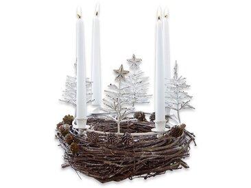 Loberon Kerzenkranz »Maryport«, weiß, antikweiß
