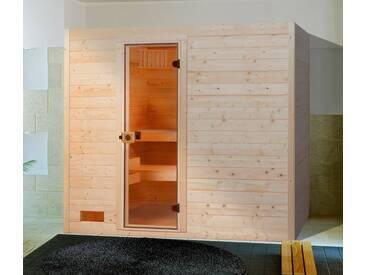 weka Weka Sauna »Lars Trend 1«, 189/139/203,5 cm, 7,5-KW-Kombiofen, natur, 7,5-kW-Kombiofen mit externer Steuerung, natur