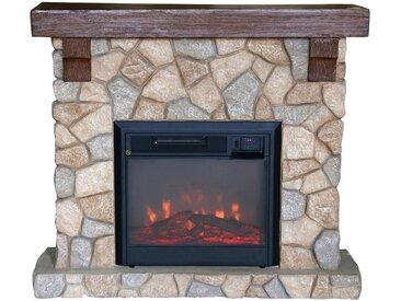 El Fuego EL FUEGO Elektrisches Kaminfeuer »Villach«, grau, mit Fernbedienung, braun, braun