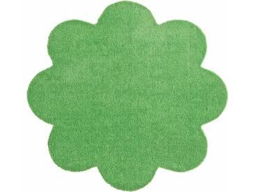 HANSE Home Fußmatte »Deko Soft«, blumenförmig, Höhe 7 mm, saugfähig, waschbar, grün, 7 mm, grün