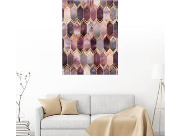 Posterlounge Wandbild - Elisabeth Fredriksson »Dreamy Stained Glass«, bunt, Alu-Dibond, 30 x 40 cm, bunt