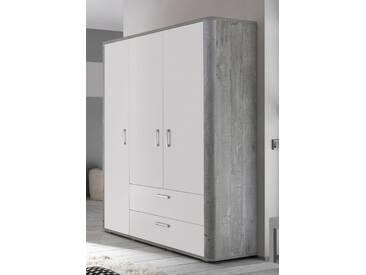 Kleiderschrank »Aarhus«, in vintage grau/weiß matt Lack, grau, vintage grau/weiß matt Lack