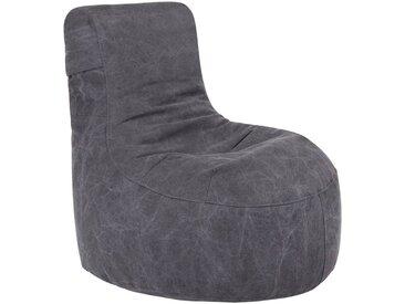 OUTBAG Sitzsack »Slope Canvas«, wetterfest, für den Außenbereich, BxH: 85x90 cm, schwarz, schwarz