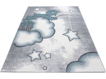 Ayyildiz Kinderteppich »Kids 580«, rechteckig, Höhe 12 mm, Teddybär, Sterne Design, Kurzflor, blau, blau