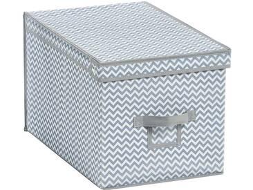Zeller Present ZELLER Aufbewahrungsbox »Größe L«, 2er Set, grau, weiß/grau