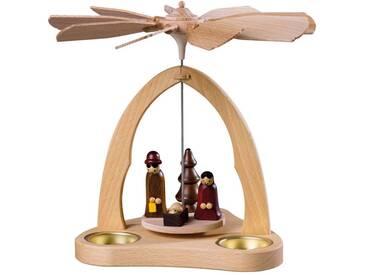 SAICO Original Tischpyramide Christi Geburt für 3 Teelichte