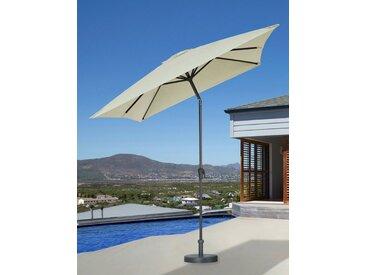 GARTENGUT Sonnenschirm , 200x300 cm, weiß, 300x200 cm, cremefarben
