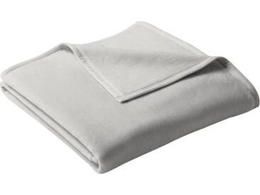 BIEDERLACK Wohndecke »Uno Cotton«, mit Veloursband, grau, Baumwolle-Kunstfaser, hellgrau