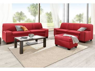 DOMO collection DOMO Collection Set: 2-Sitzer und 3-Sitzer (2-tlg.), rot, rot