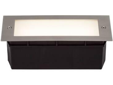 AEG Wall LED Außenwandeinbauleuchte eisen/mattglas, silberfarben, eisen/mattglas