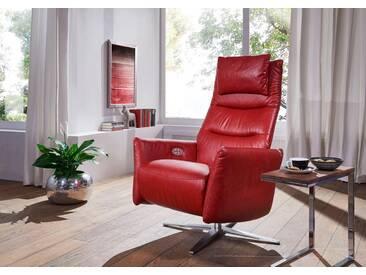 W.SCHILLIG Relaxsessel »salsaa« mit 4-Sternfuß, inklusive Nackenkissen, rot, ruby red Z59