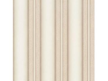 SCHÖNER WOHNEN-KOLLEKTION Vliestapete, P+S, »Streifen Tapete«, bunt, beige-braun-metallics