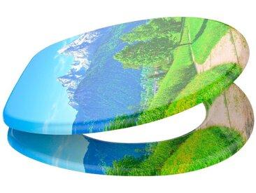 Sanilo SANILO WC-Sitz »Alpen«, mit Absenkautomatik, grün, blau/grün