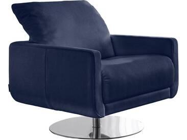 W.SCHILLIG Armlehnen-Sessel »mademoiselle« mit Kopfstützenverstellung und Drehteller, blau, navy