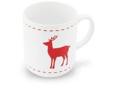 FRIESLAND Kaffeeservice, Steingut, weiß, Weiß