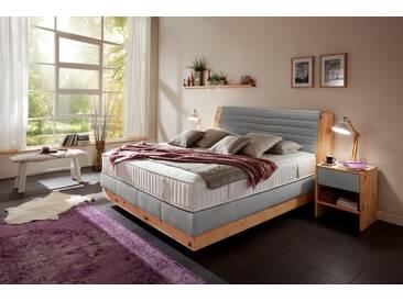 ADA premium Boxspringbett »Chalet«, Grand Comfort TF 1000 PM, grau, 7-Zonen-Tonnentaschenfederkern-Partnermatratze H2, hellgrau HMV 9