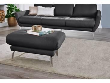 W.SCHILLIG Hocker »softy«, mit Heftung im Sitz, schwarz, schwarz