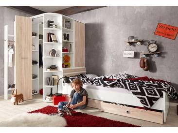Wimex Jugendzimmer-Set »Joker«, 4-teilig, weiß, weiß/struktureichefarben hell