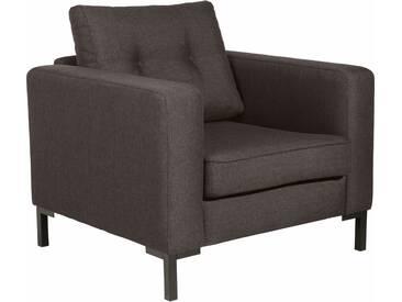 Max Winzer® Sessel »Timber« mit dekorativen Knöpfen, inklusive Zierkissen, braun, braun