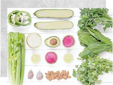 APELT Platzset »3955 DELIKATESSEN - Gemüse« (Set 4-tlg), grün, Polyester, grün-weiß