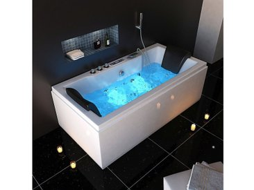 HOME DELUXE Whirlpoolwanne »White M Light «, B/T/H in cm: 180/90/55, 90 cm, 180 cm, 180 cm