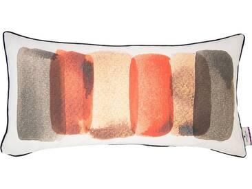 Tom Tailor Kissenhülle »Overlaped Paint«, braun, Baumwolle, taupe-koralle