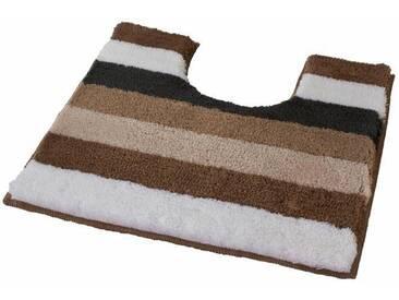 Kleine Wolke Badematte »Bilbao« , Höhe 25 mm, rutschhemmend beschichtet, fußbodenheizungsgeeignet, natur, 25 mm, cashmere