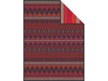 IBENA Wolldecke »Manama«, mit Jaquard Muster, rot, Baumwolle-Kunstfaser, rot