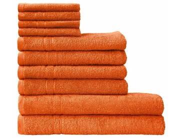 Dyckhoff Handtuch Set »Kristall«, mit feiner Bordüre, orange, 10tlg.-Set, orange
