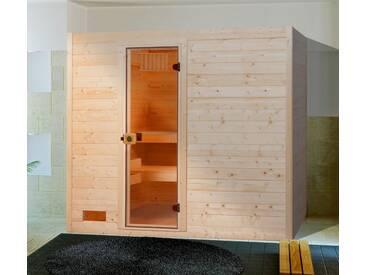 weka Weka Sauna »Lars Trend 1«, 187/137/203,5 cm, 38 mm, 7,5-KW-Ofen, natur, 7,5-kW-Ofen mit externer Steuerung, natur