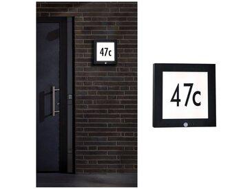 Paulmann LED Außen-Wandleuchte »Panel 30x30 cm IP44 11W 230V Anthrazit Hausnummer mit Bewegungsmelder«, 1-flammig