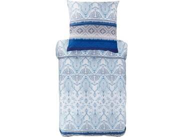 Bassetti Bettwäsche »Faraglioni«, mit schattierenden Details, blau, 1x 200x200 cm, Satin, blau