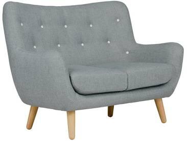 massivum Sofa aus Flachgewebe massiv »Frenco«, grau, 130x95x80cm, grau