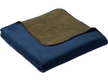 BIEDERLACK Wohndecke »Duo«, mit Wendeseite, blau, Baumwolle-Kunstfaser, blau-grün