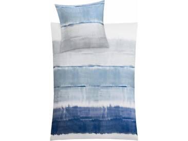 Kleine Wolke Bettwäsche »Long Beach«, mit breiten Streifen, blau, 1x 155x220 cm, Mako-Satin, blau