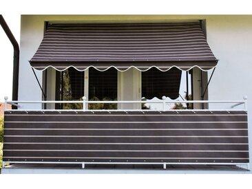 Angerer Freizeitmöbel ANGERER FREIZEITMÖBEL Klemmmarkise braun-weiß, Ausfall: 150 cm, versch. Breiten, braun, 300 cm, braun