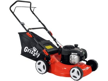 Grizzly GRIZZLY Benzin-Rasenmäher »BRM 42-125 BS«, 42 cm Schnittbreite, rot, rot