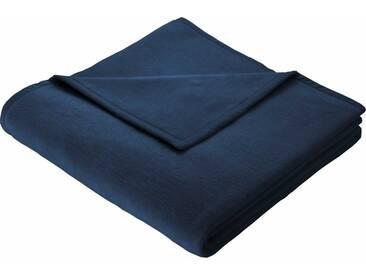 BIEDERLACK Wohndecke »Cotton Home«, im Uni Design, blau, Baumwolle-Kunstfaser, blau