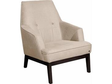 TOM TAILOR Sessel »COZY«, im Retrolook, mit Kedernaht und Knöpfung, Füße wengefarben, weiß, ivory STC 1