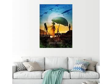 Posterlounge Wandbild - Albert Cagnef »The Wind Rises«, bunt, Holzbild, 120 x 160 cm, bunt