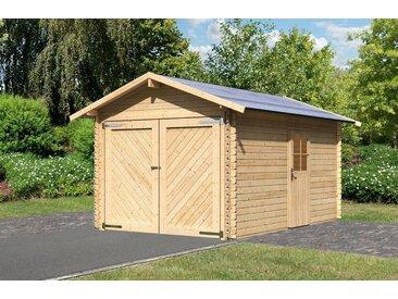 Karibu Einzel-Garage »Blockbohlen 1«, natur (BxT: 280x430 cm), natur, natur